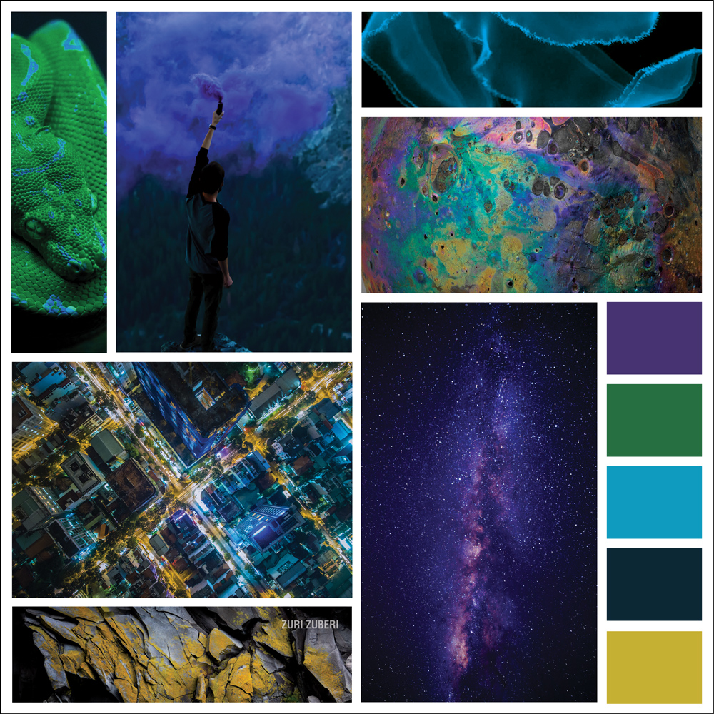 Mood Board Love – Neon Galaxy