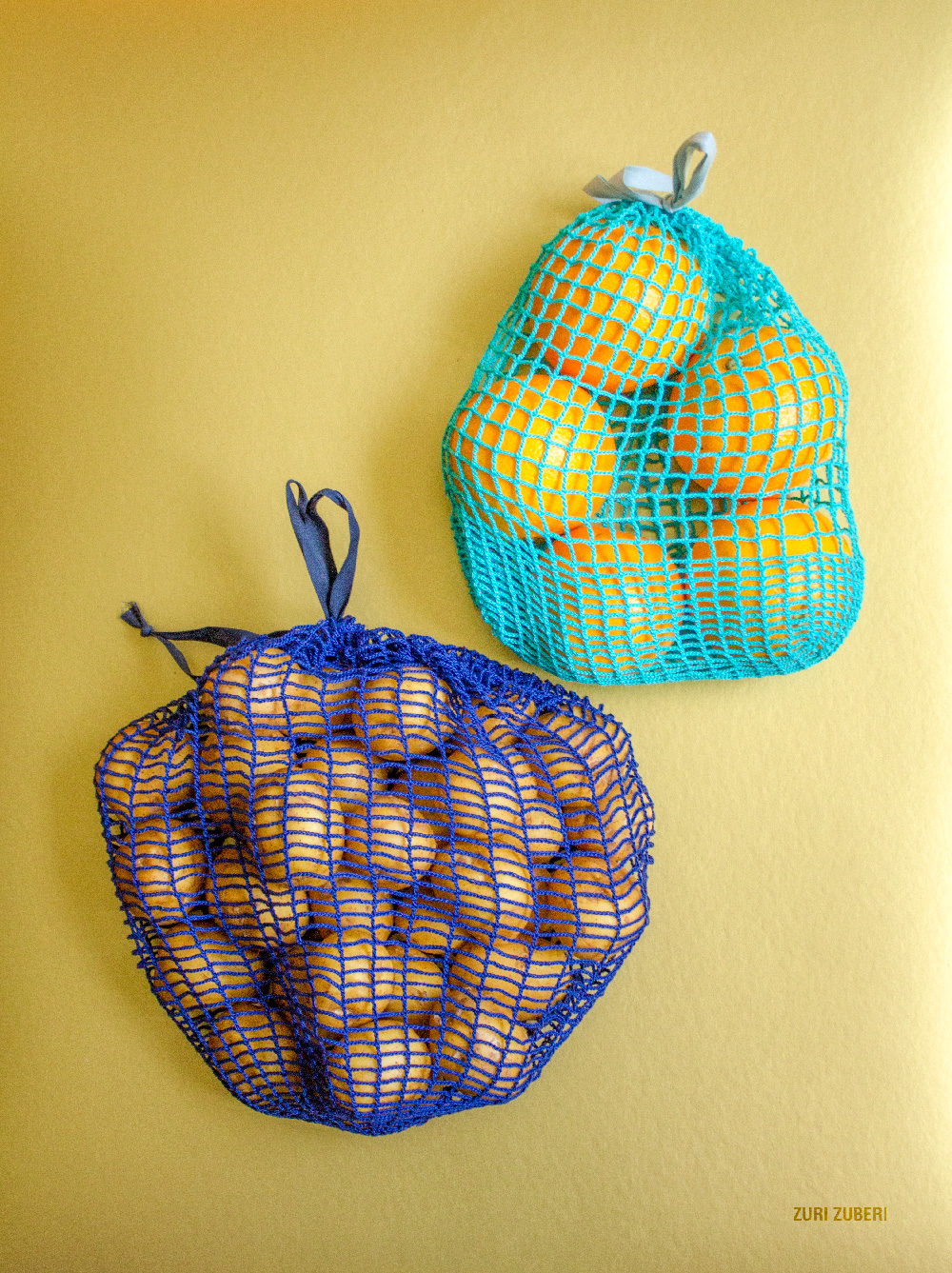 Crocheted produce bags